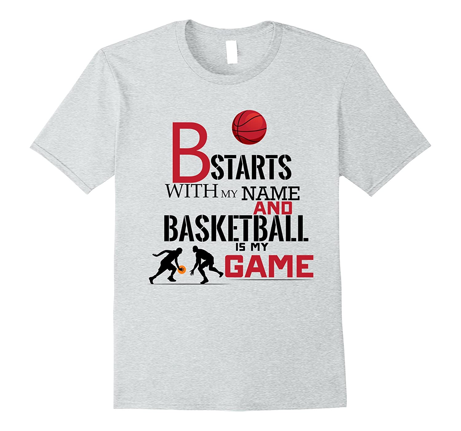 33a0dcd9ec B Name Initial Letters Basketball T-Shirt for fans Funny-CD – Canditee