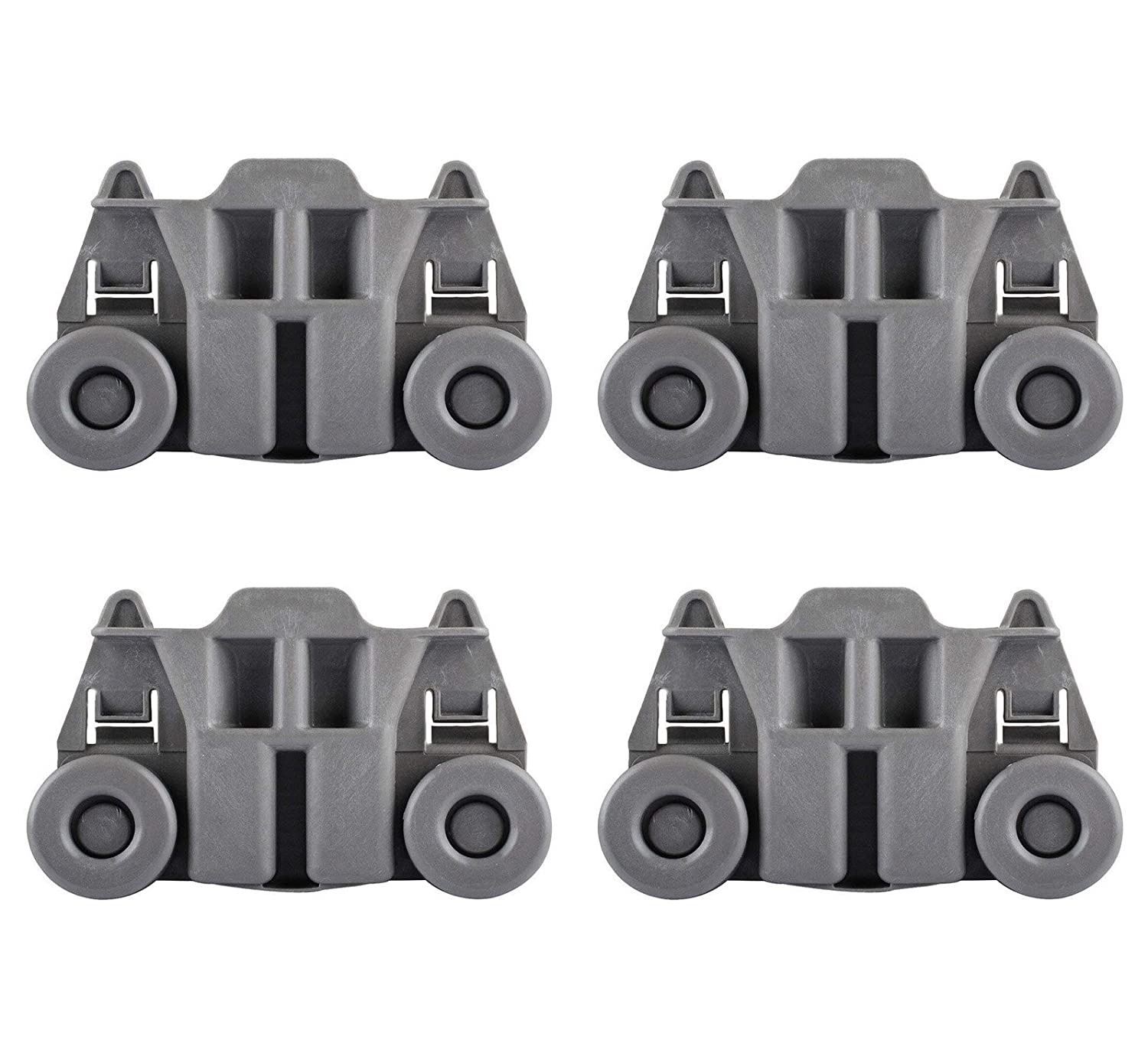 Siwdoy (Pack of 4) W10195417 Dishwasher Wheel for Whirlpool Kenmore Dish Rack WPW10195417 AP4538395 PS2579553