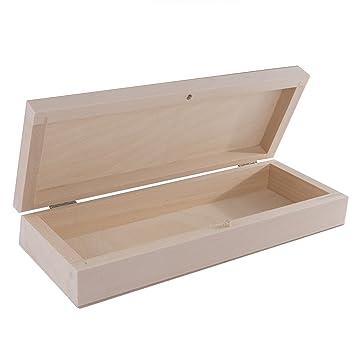Cepillo de madera searchbox/estuche con tapa/escuela suministros de arte dibujo organizador caja: Amazon.es: Oficina y papelería