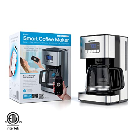 Amazon.com: atomi Smart WiFi cafetera eléctrica 12 tazas ...