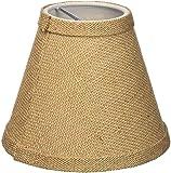 Urbanest Chandelier Lamp Shade 6-inch, Hardback, Clip On, Burlap