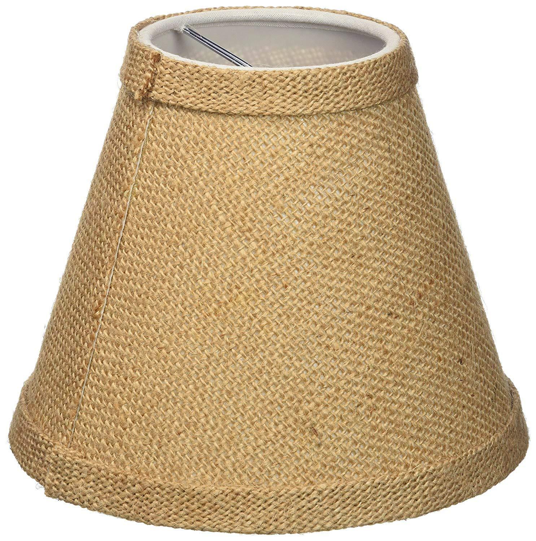 Clip On Hardback Burlap Urbanest Chandelier Lamp Shade 6-inch