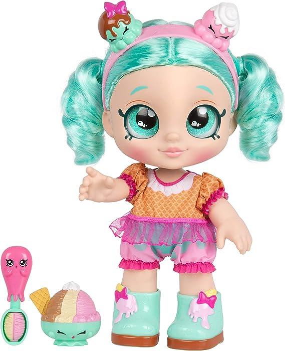 """Kindi Kids Snack Time Friends, Pre-School 10"""" Doll - Peppa-Mint"""