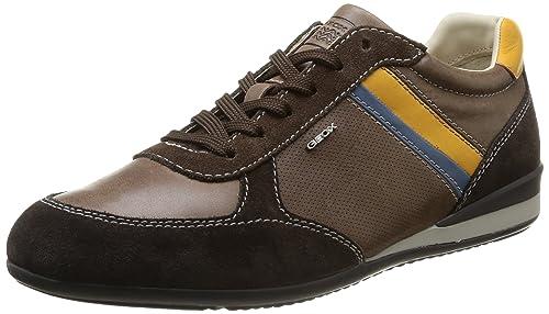 4892b326c Geox U XENON B - zapatilla deportiva de piel hombre  Amazon.es  Zapatos y  complementos