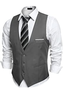 83af9ec535f GN GIORGIO NAPOLI Men s Modern Fit Vest Dress Suits Waistcoat for ...