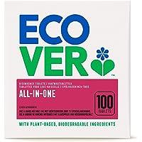 Ecover All-In-One vaatwasmachine-tabs citroen & mandarijn (100 stuks/2 kg), multi-tabs voor een krachtige reiniging…