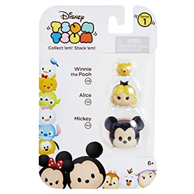 Tsum Tsum 3-Pack Figures: Mickey/Alice/Pooh: Toys & Games