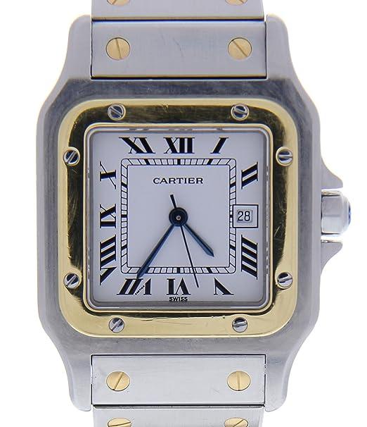 Cartier Santos galbee Cuarzo Mujer Reloj w20012 C4 (Certificado) de Segunda Mano: Cartier: Amazon.es: Relojes