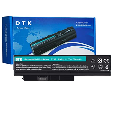 DTK Laptop Battery Replacement for Lenovo ThinkPad X230 X230i X220 X220i 0A36306 45N1023 45N1022 0A36307 45N1027