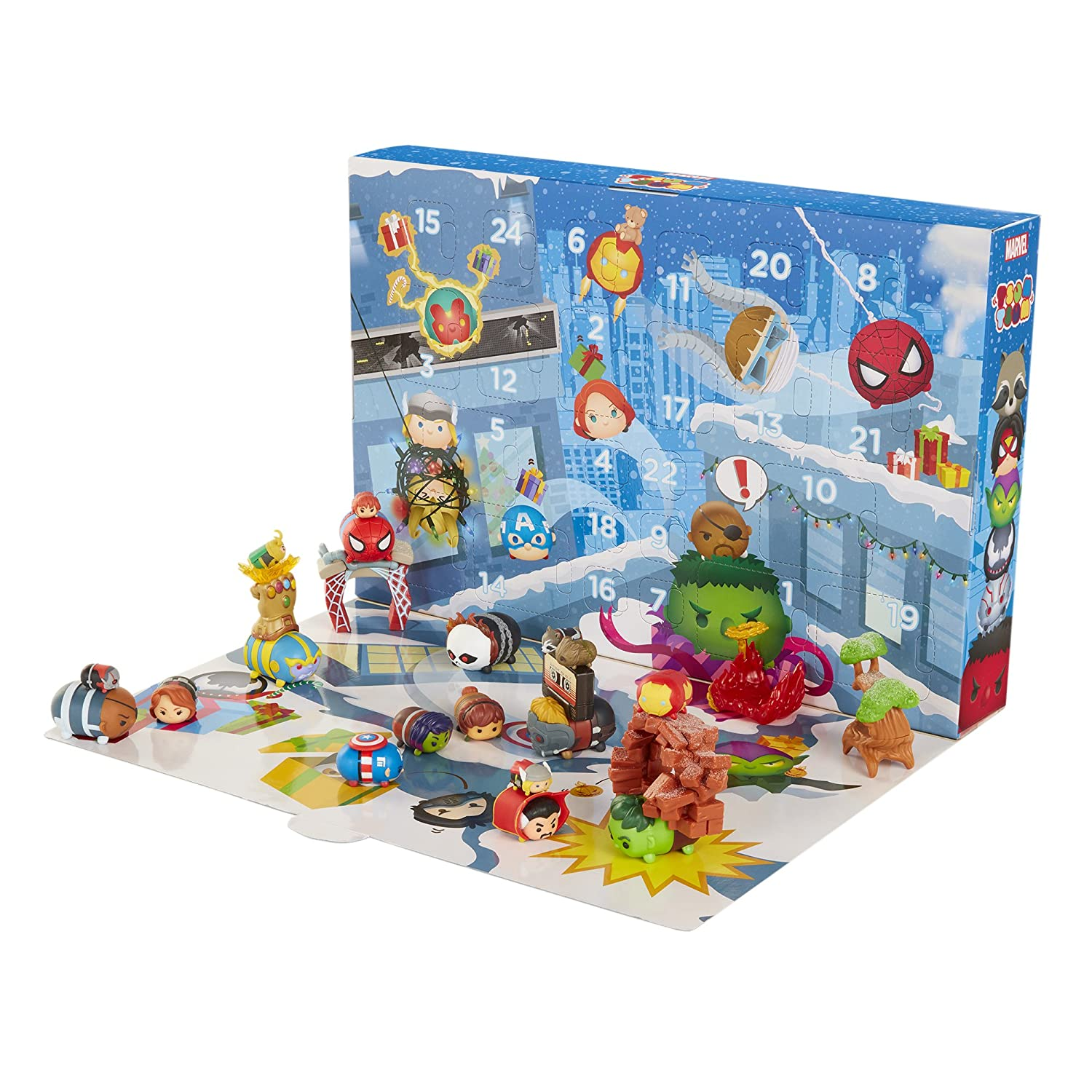 Tsum Tsum Marvel Countdown to Christmas Advent Calendar Playset Jakks Pacific 06119