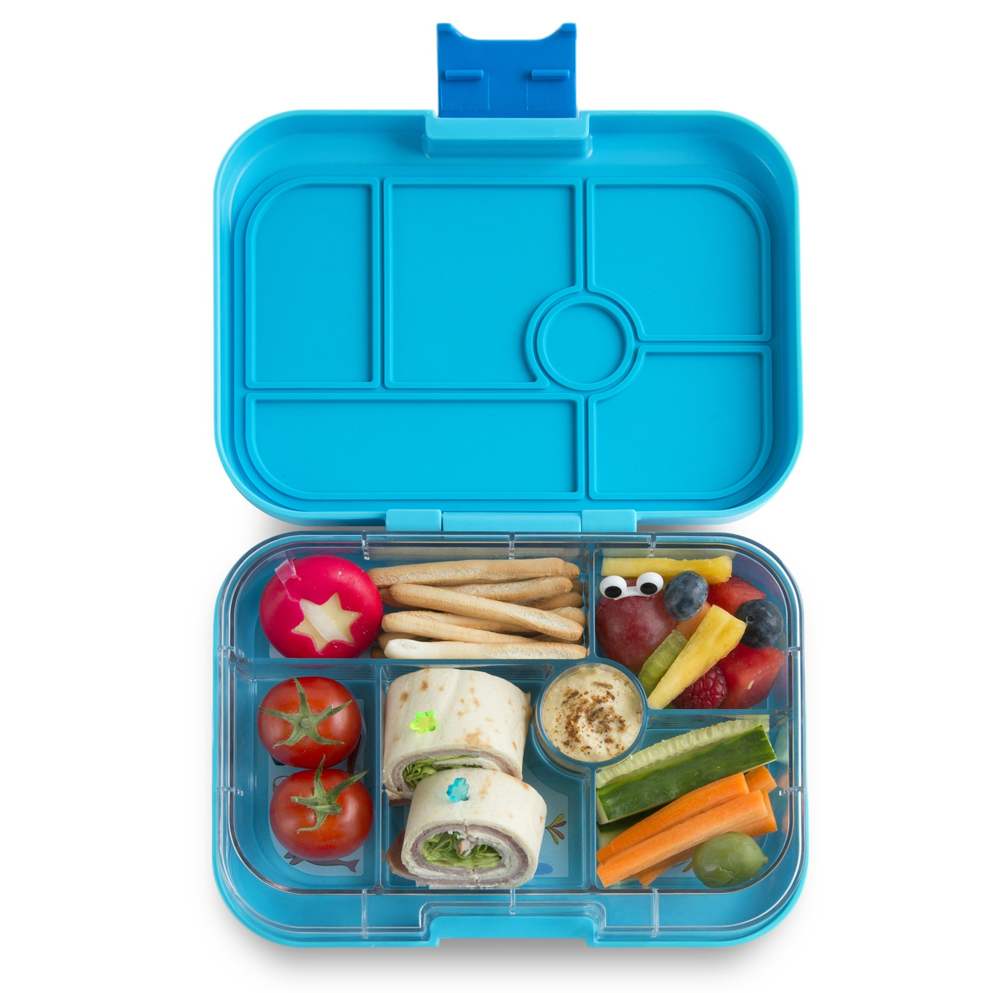 YUMBOX Original (Blue Fish) Leakproof Bento Lunch Box Container for Kids: Bento-style lunch box offers Durable, Leak-proof, On-the-go Meal and Snack Packing