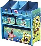 Delta Children Bob l'Eponge Meuble de Rangement Multi Boîtes Bleu