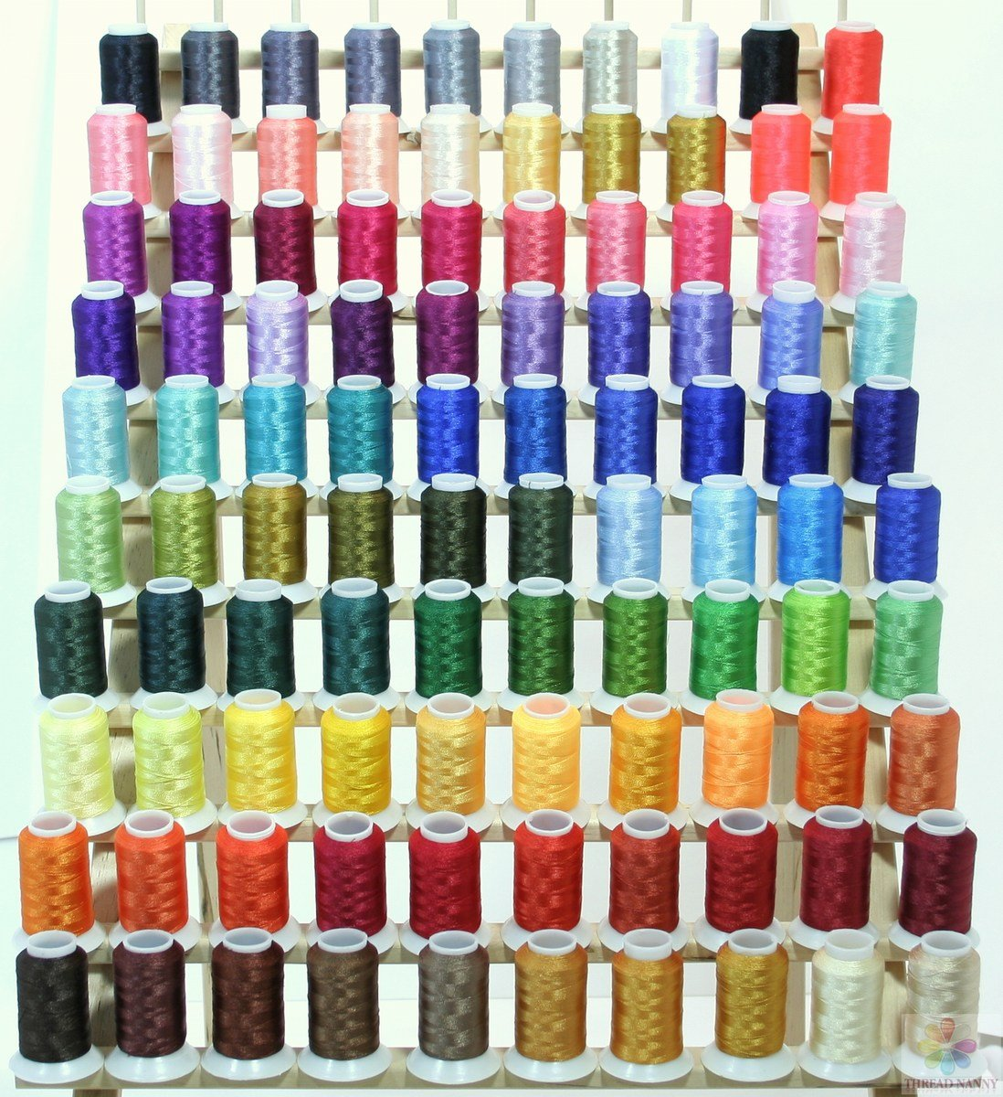 Best rated in embroidery machine thread helpful customer reviews premium 100 polyester embroidery thread spools 40wt brother babylock machines for pe 700 pe700ii pe geenschuldenfo Image collections
