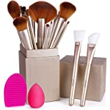 BESTOPE Makeup Brushes 16PCs Makeup Brushes Set with 2PCs Silicone Face Mask Brush 1 Beauty Blender Sponge and 1 Brush…
