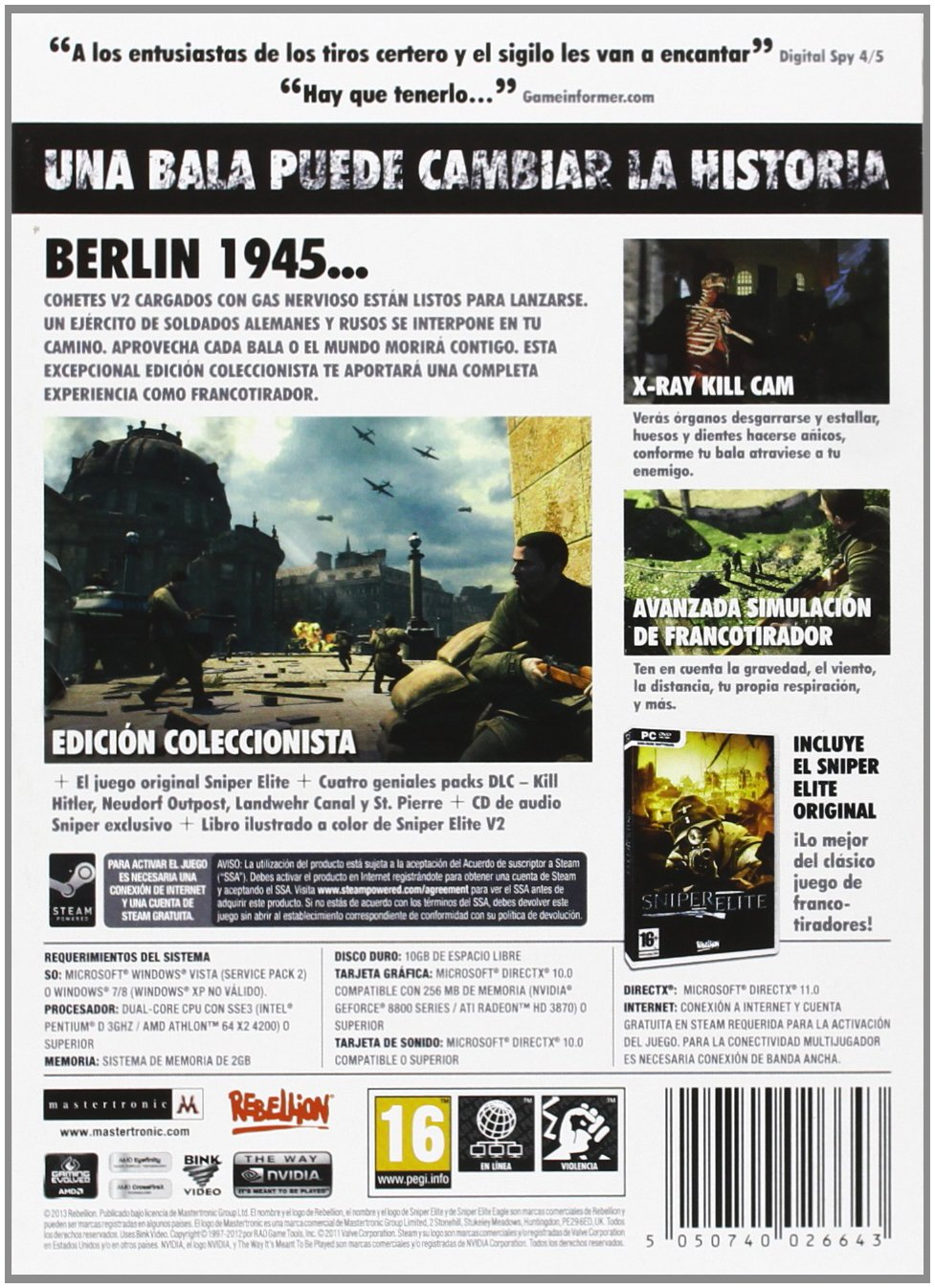 Sniper Elite V2: sony playstation3: Amazon.es: Videojuegos
