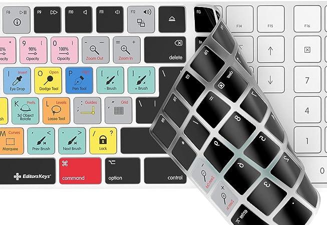 Adobe Photoshop - Funda para teclado inalámbrico Apple Magic con teclado numérico   Funda KB de teclas de edición