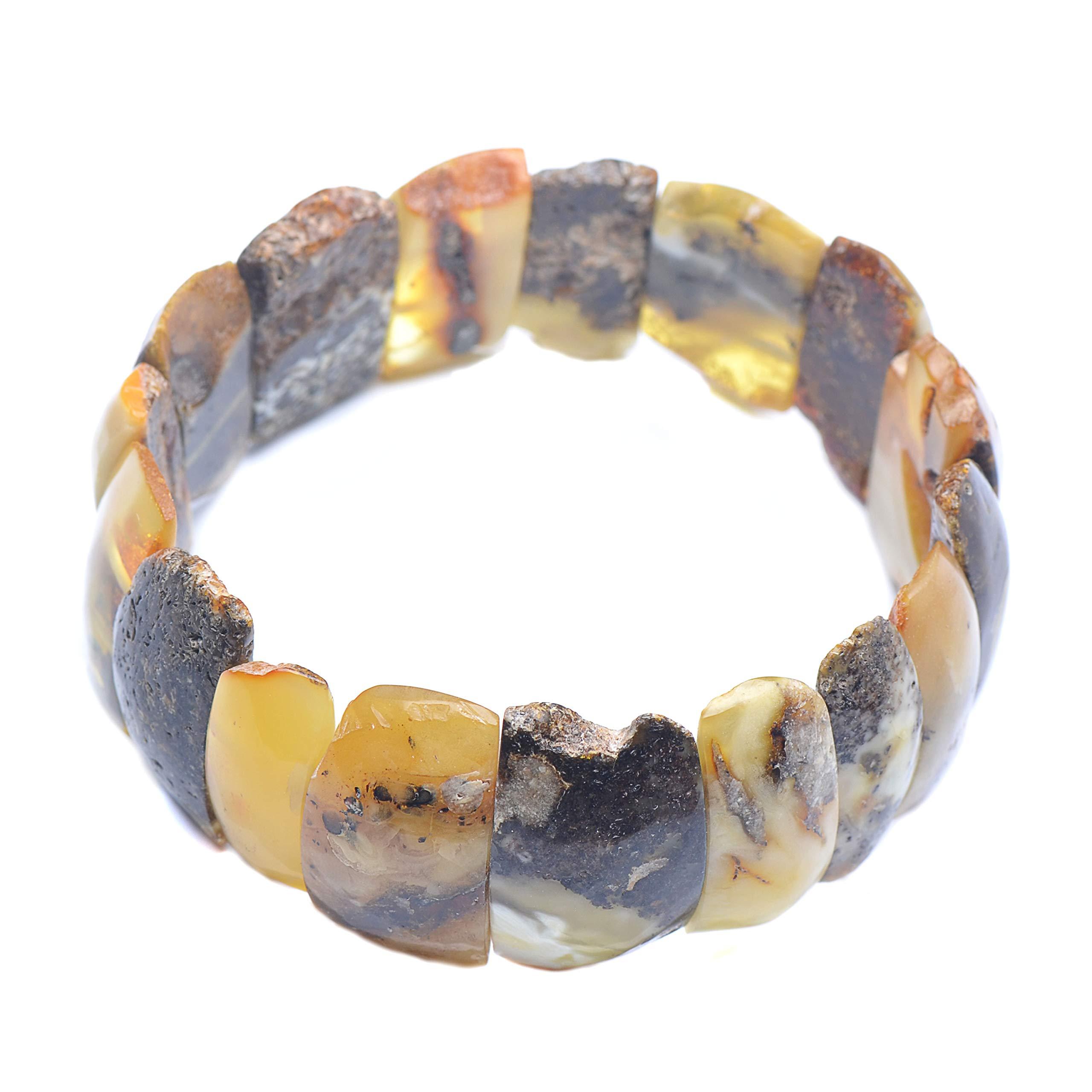 Colorful Amber Bracelet - Vintage Bracelet - Amber Bracelet - Vintage Amber Bracelet - Baltic Amber Bracelet by Genuine Amber (Image #5)
