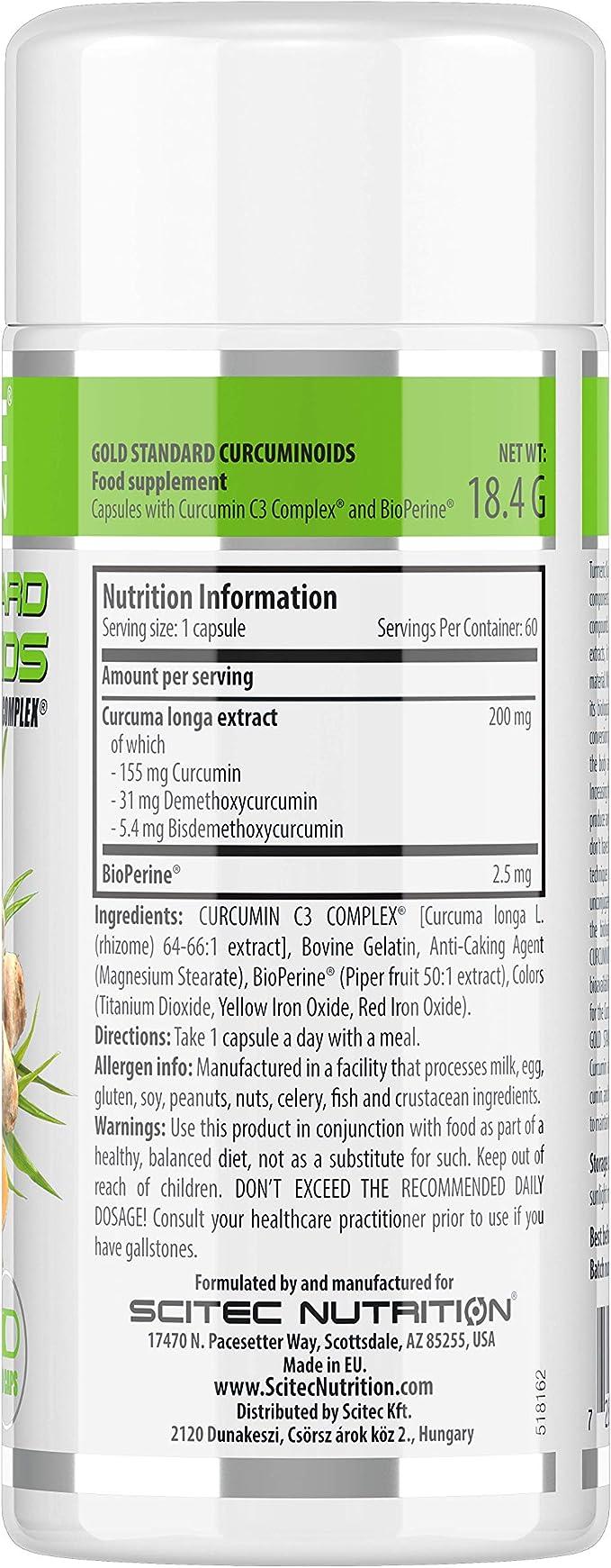 Scitec Nutrition Gold Standard Curcuminoids vitamina 60 cápsulas ...