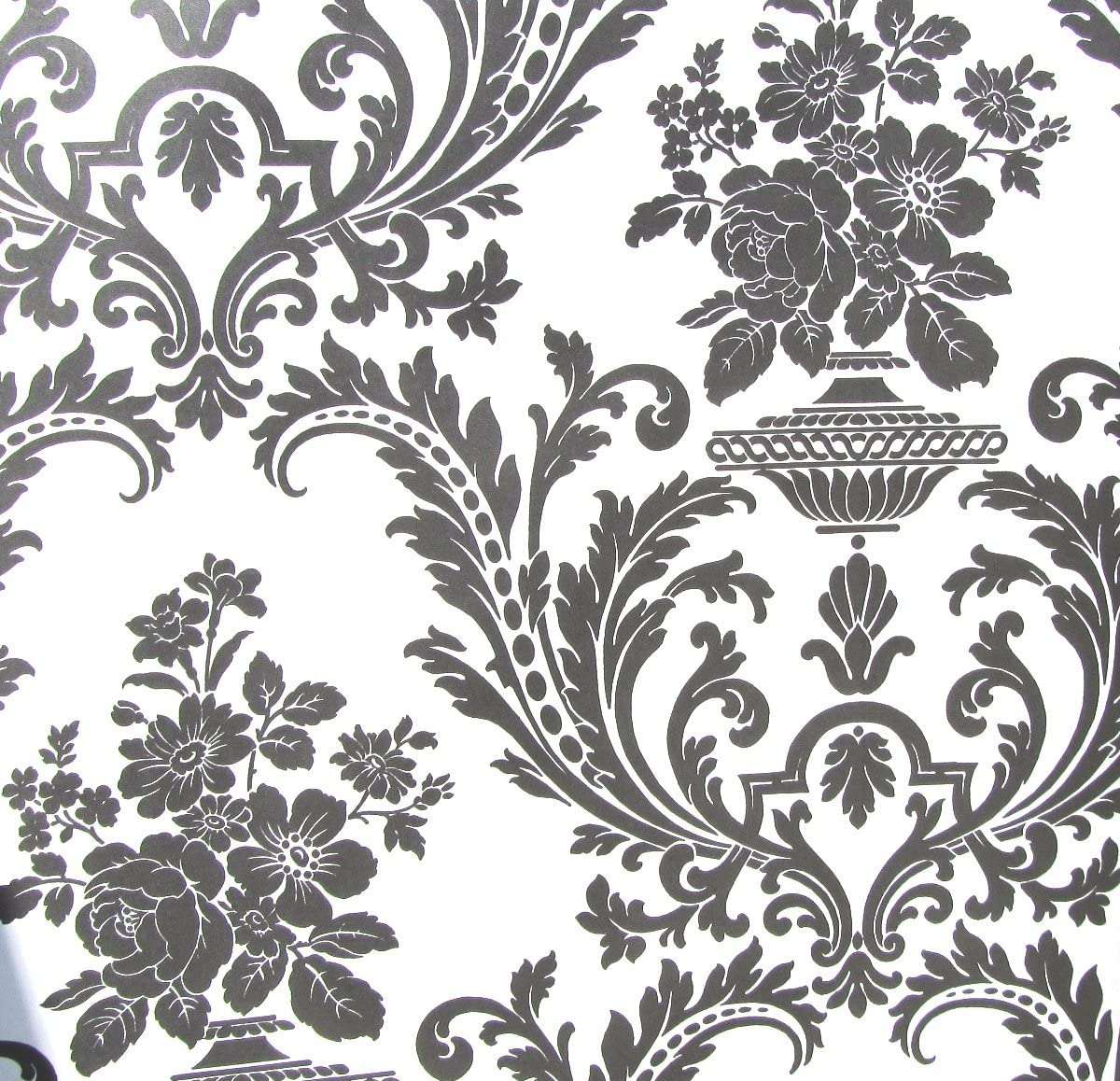 Amazon Com Wallpaper Victorian Black And White Classic