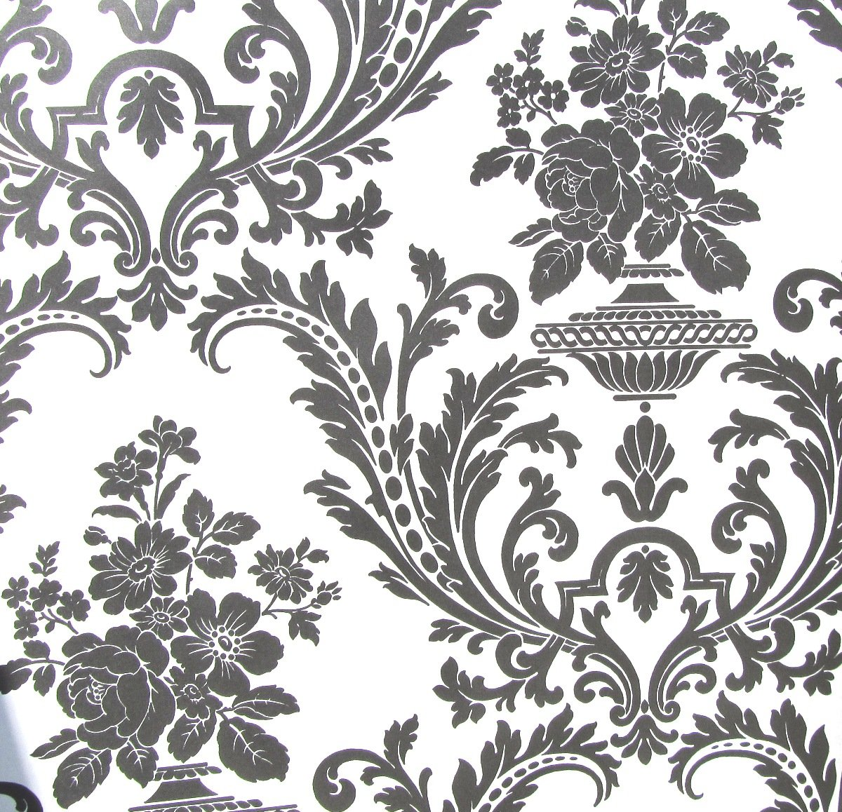 Amazon wallpaper victorian black and white classic traditional amazon wallpaper victorian black and white classic traditional damask home kitchen mightylinksfo