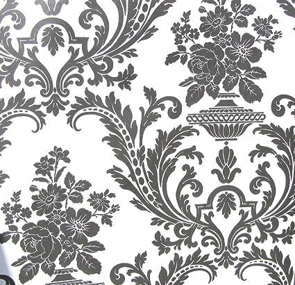 amazon com wallpaper victorian black and white classic traditional