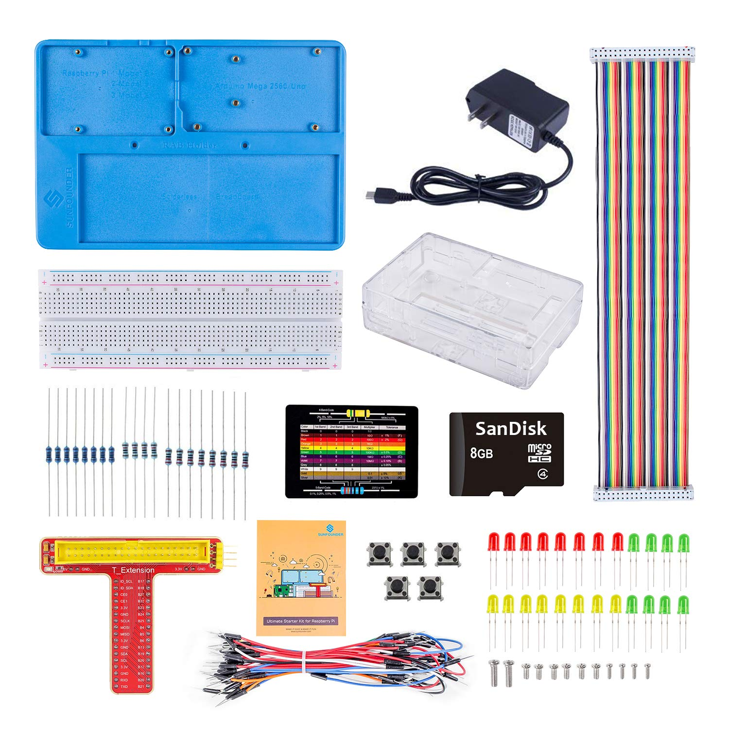SunFounder Project Starter Kit with 8G TF Card and Tutorial for Raspberry Pi 3B+ 3B