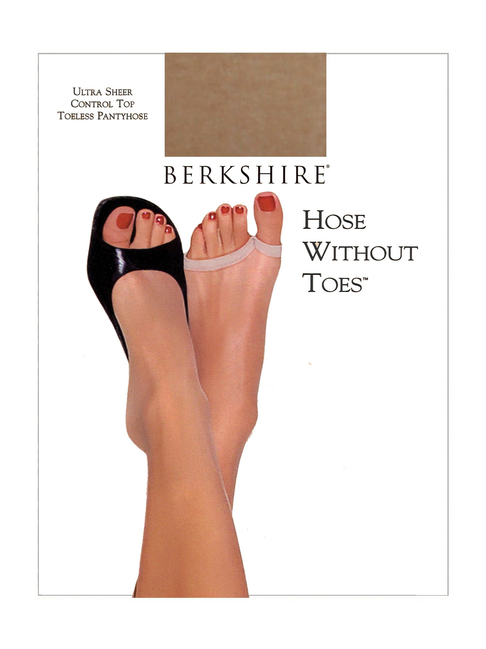 Berkshire Women's Hose Without Toes Ultra Sheer Control Top Pantyhose, Utopia, 2