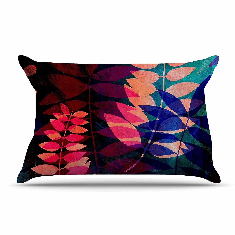 30 X 20 30 by 20-Inch Kess InHouse Jessica Wilde Dark Jungle Multicolor Nature Standard Pillow Case