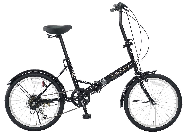 武田産業 フォールディングバイク atrium (アトリウム) [シマノ外装6段変速仕様 折りたたみ] FDR-B206AT B07BFZLTBKブラック