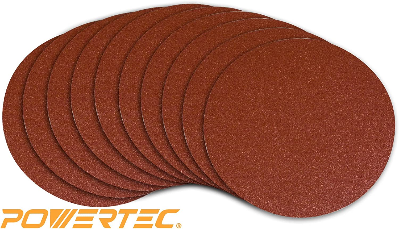B0068AUKLU POWERTEC 110580 9-Inch PSA 80 Grit Aluminum Oxide Adhesive Sanding Disc, 10-Pack 81nGPhD-wPL