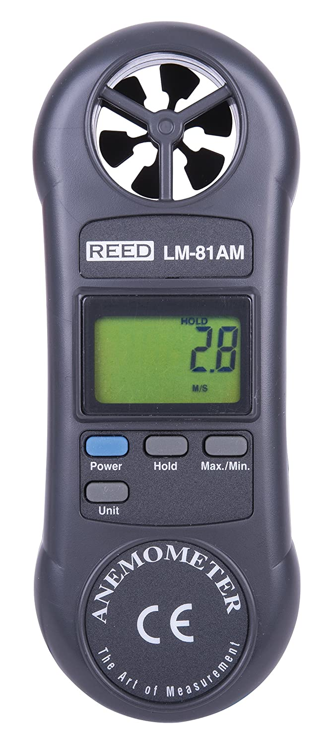 REED Instruments LM-81AM Compact Vane Anemometer WP-DSAA-B49S
