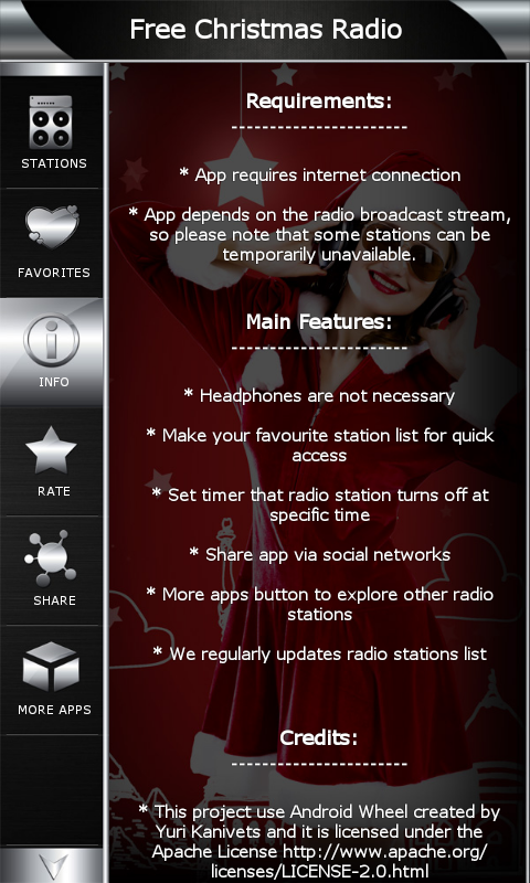 amazoncom free christmas radio appstore for android - List Of Christmas Radio Stations