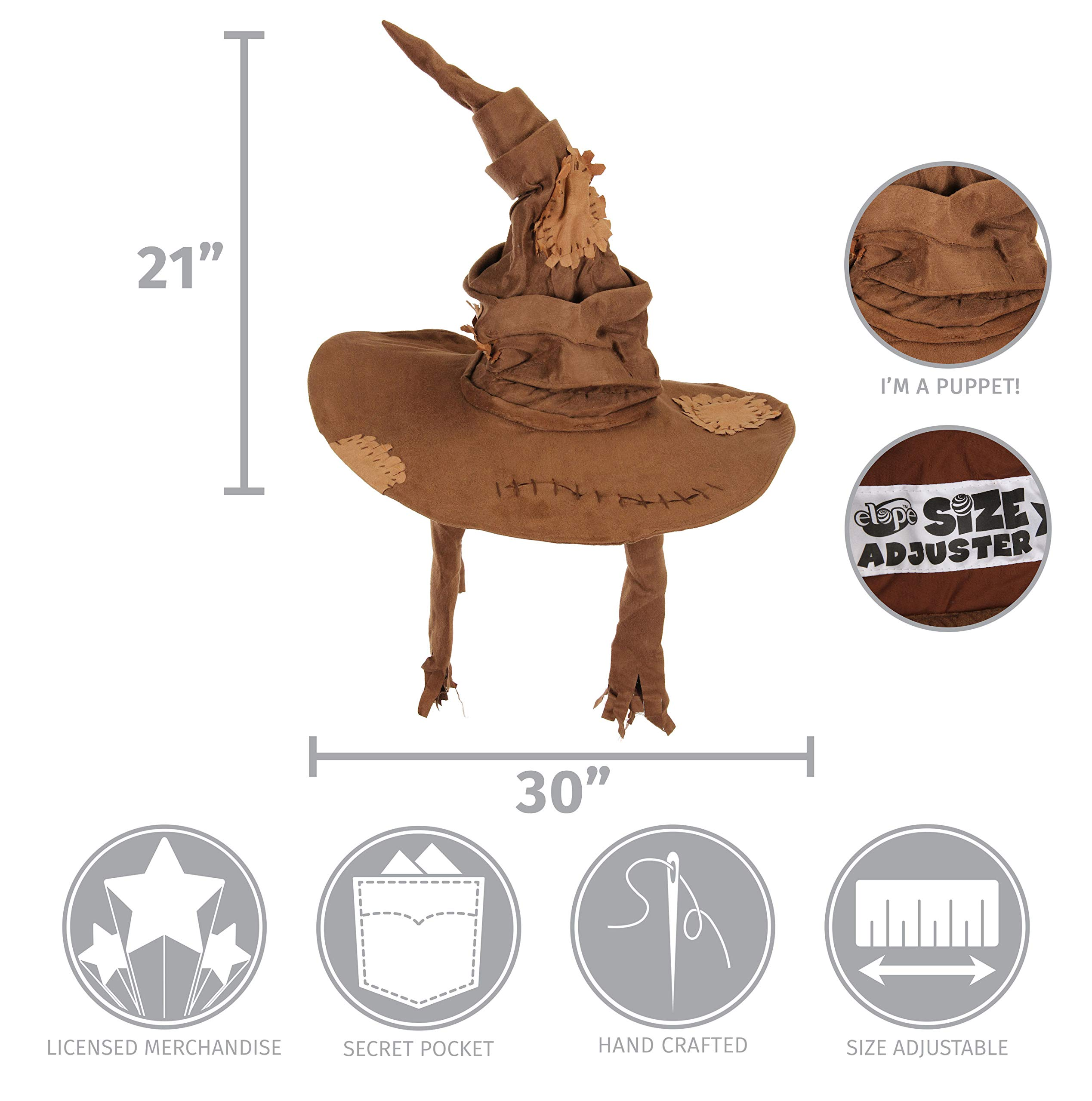 elope Harry Potter Sorting Hat Costume Brown by elope (Image #8)