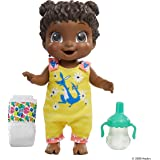 Baby Alive Baby Gotta Bounce Doll, Kangaroo Outfit, Bounces with 25+ SFX and Giggles, Drinks and Wets, Black Hair Toy for Kid