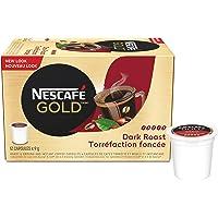 NESCAFÉ GOLD Dark Roast & Ground Coffee Capsules, K-Cup Compatible Pods, 12 Capsules