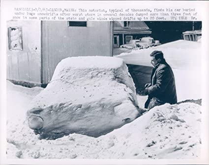 Amazon com: Vintage Photos 1945 Photo Motorist Cars Storm