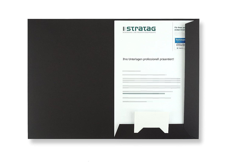 - erh/ältlich in 7 Farben Projekte oder Gesch/äftsberichte vielseitig einsetzbar f/ür Ihre Angebote direkt vom Hersteller STRATAG Expos/és Pr/äsentationsmappe A4 in Schwarz 10 St/ück w/ählbar