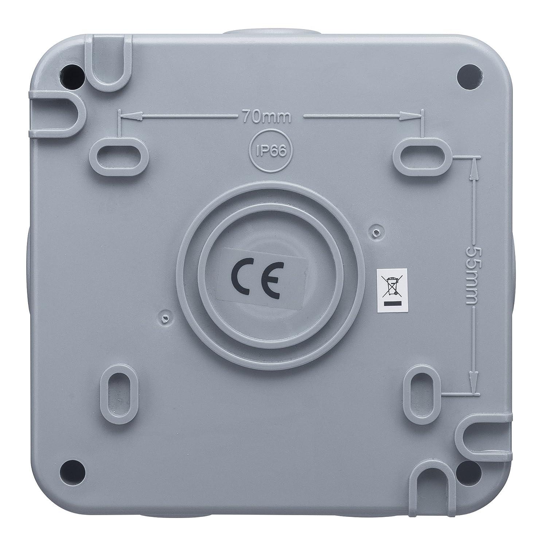 MasterPlug wp55rcd 13 A Lichtschalter Storm wetterfest Outdoor RCD ...