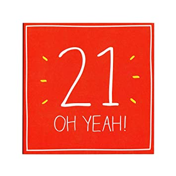Happy 21st Birthday Card Twentyfirst Embossed 21 Blank For Him Her Amazoncouk Office Products
