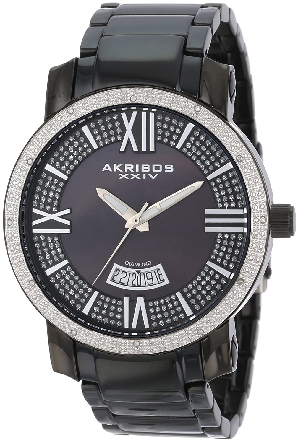 Amazon.com: Akribos XXIV Womens AK510SS Mesh Wraparound Diamond-Accented Rectangular Watch: Akribos XXIV: Watches
