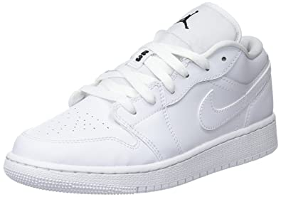 sports shoes 0ebb3 55d1a ... netherlands nike mädchen air jordan 1 low gs basketballschuhe weiß  black white 101 de1f0 abd52