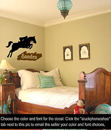 Horse Wall DecalPersonalized Vinyl Wall Stickergirls Room Decor - Personalized vinyl wall decals