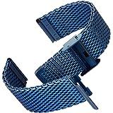 Cinturino orologio Geckota® Acciaio inossidabile Maglia milanese