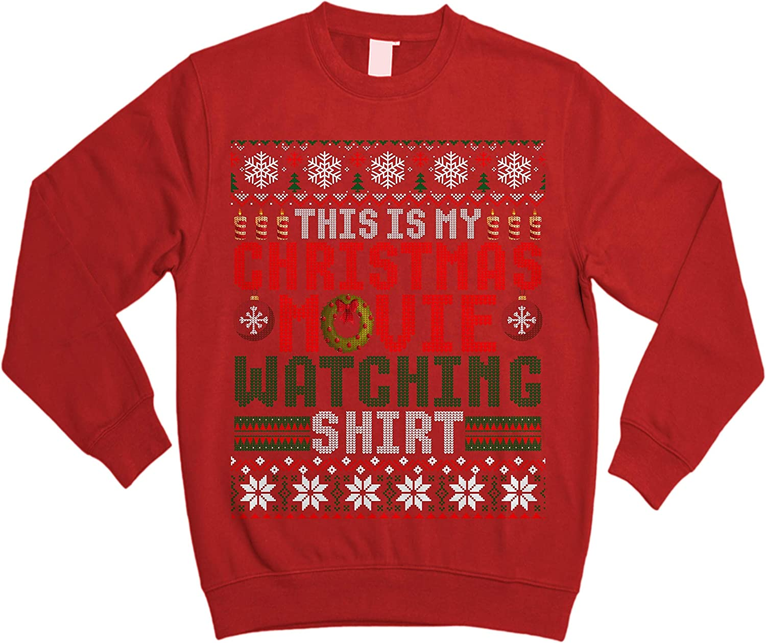 TeeCheery This is My Christmas Movie Watching Funny Ugly Xmas Sweater Sweatshirt