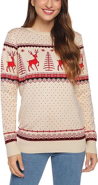reindeer christmas tree jumper