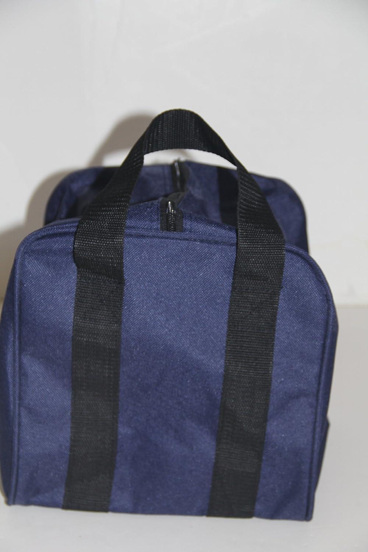 Heavy Duty Nylon Bocce Bag - Blue with Black Handles BuyBocceBalls