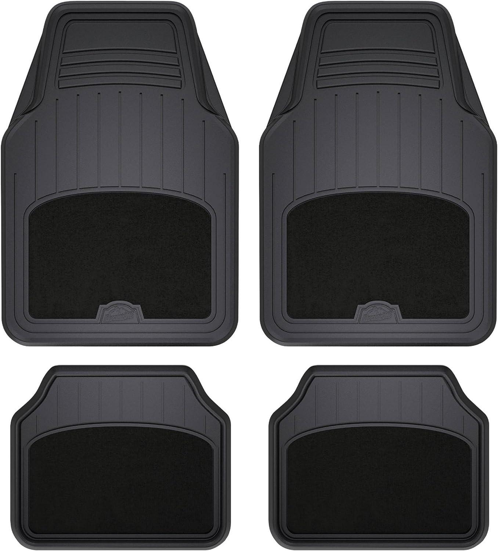 Armor All 78890 4-Piece Black All Season Carpet & Rubber Floor Mat