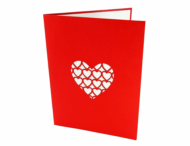 buon compleanno fidanzamento anniversario PopLife Cards Ti amo scheda pop up cuore per tutte le occasioni un regalo speciale per i propri ca San Valentino biglietto di auguri festa della mamma