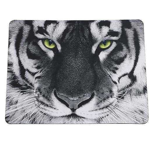 """4 opinioni per TRIXES Tigre bianca e nera 8.5""""(21.5 cm) x 7"""" (17.7 cm) tappetino per mouse"""
