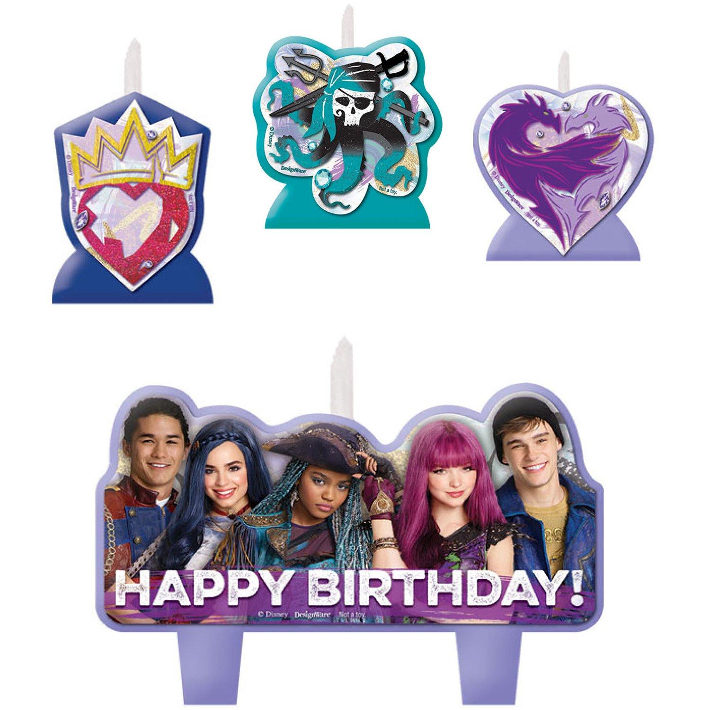 Amscan Disney Descendants Birthday Candle, Purple, Green, Blue, Standard AMI 174957